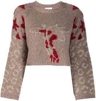 Antonella Rizza Leopard Pattern Knit Jumper