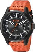 HUGO BOSS BOSS Orange Men's 'HONG KONG SPORT' Quartz Resin and Nylon Casual Watch, Color: (Model: 1550001)