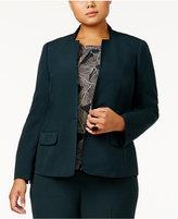 Kasper Plus Size One-Button Blazer