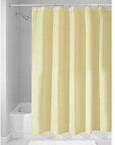 InterDesign Mildew-Free Water-Repellent Fabric Shower Curtain, 183 x 183 cm - Lemon Yellow