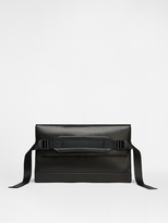 DKNY Leather Clutch With Nylon Webbing