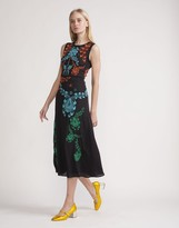 Cynthia Rowley Embroidered Silk Sleeveless Dress