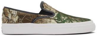 Converse Khaki and Brown Real Tree One Star CC Pro Slip-On Sneakers
