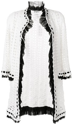 Chanel Pre Owned Crochet Knit Cardigan