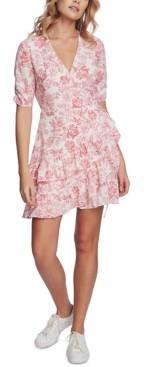 1 STATE Printed Wrap Dress