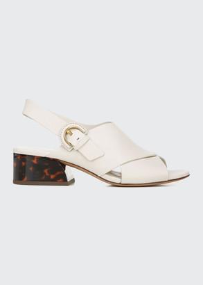 Vince Jetta Block-Heel Slingback Sandals