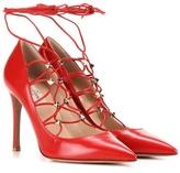Valentino Garavani Rockstud leather lace-up pumps