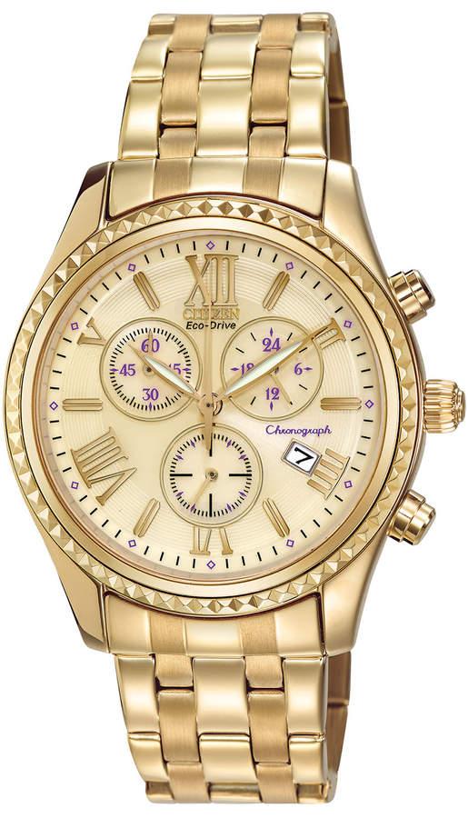 Citizen 40mm Chronograph Bracelet Watch, Champagne