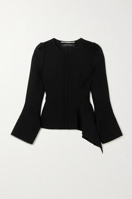 Roland Mouret Noto Asymmetric Wool-crepe Jacket - Black