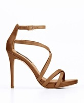 Ann Taylor Lia Strappy Leather Platform Sandals