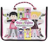 Melissa & Doug Magnetic Dress-Up Wood Doll Set - Tops and Tights