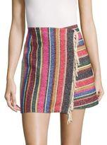 Sandro Josy Striped Wrap-Around Skirt