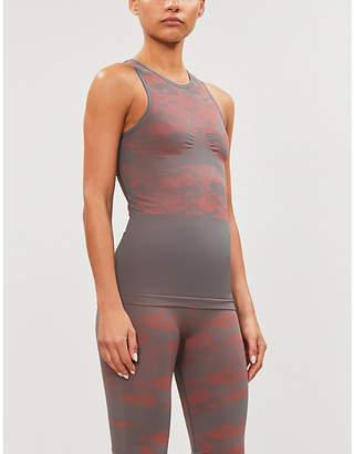 adidas by Stella McCartney Essentials camouflage-print jacquard-knit top