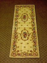 KAS Rugs KAS Oriental Rugs Ruby Collection Fleur-De-Lis Aubusson Runner
