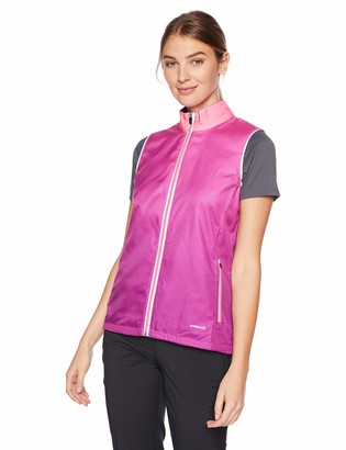 Cutter & Buck Annika Women's Weathertec Packable Reflective Full Zip Vest with Pockets