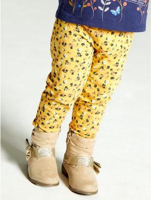 M&Co Floral stripe leggings (9mths-5yrs)