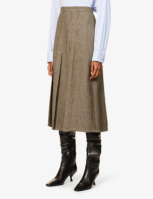 Giuliva Heritage Collection Verena checked wool midi skirt