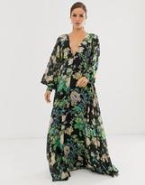 Asos Edition EDITION blouson sleeve maxi dress in floral print