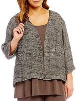 Eileen Fisher Plus Kimono 3/4 Sleeve Jacket