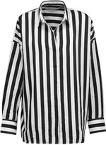 IRO Tamara striped cotton-blend shirt
