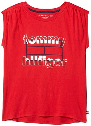 Tommy Hilfiger Hyper Tee (Big Kids) (Chinese Red) Girl's Clothing