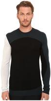 McQ by Alexander McQueen Colour Block Crew Neck Men's Long Sleeve Pullover