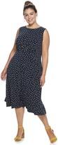 Plus Size Suite 7 Sleeveless Fit & Flare Midi Dress
