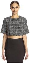 Lucca Couture Women's Tweed Crop Top