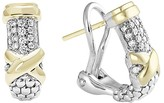 Lagos 18K Gold and Sterling Silver Diamond Earrings