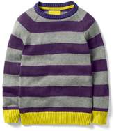 Mini Boden Striped Crewneck Sweater