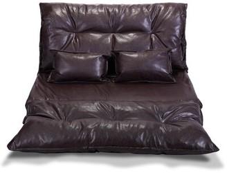 "Latitude Run Dejanae Faux leather 46"" Wide Armless Sleeper Sofa Bed"