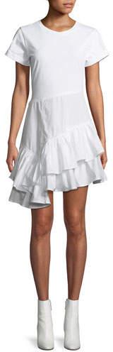 3.1 Phillip Lim Flamenco Cotton T-Shirt Mini Dress