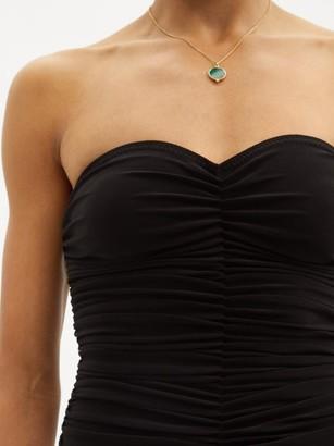Norma Kamali Marissa Ruched Strapless Swimsuit - Black