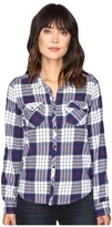 Roxy Squary Cool Long Sleeve Flannel Shirt Women's Clothing
