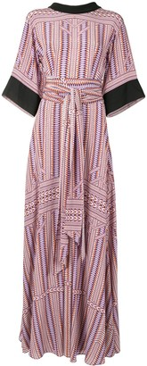 Amanda Wakeley Silk Tie Waist Long Dress