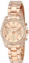 """Akribos XXIV Women's AK710RG """"Lady"""" Diamond and Crystal-Accented Stainless Steel Watch"""