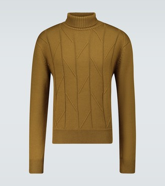 King And Tuckfield Wool turtleneck sweater