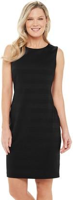 Chaps Women's Sleeveless Textured Knit Sheath Dress