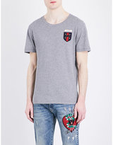 Gucci Crest Appliqué Cotton-jersey T-shirt