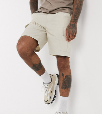 Reclaimed Vintage inspired cargo shorts in stone