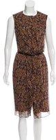 Carolina Herrera Silk Abstract Dress
