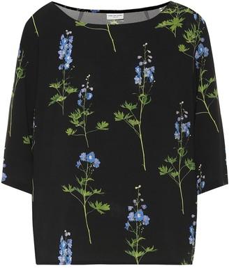 Dries Van Noten Floral crepe top