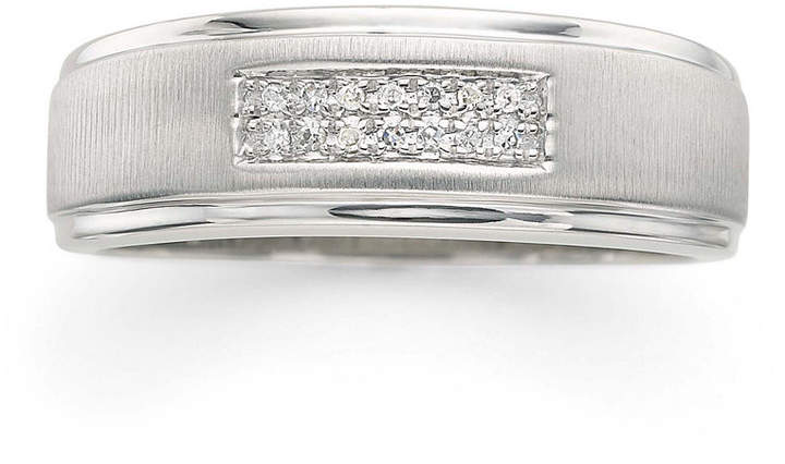 JCPenney FINE JEWELRY LIMITED QUANTITIES! Mens Diamond Accent 2-Row Wedding Band in 10K White Gold