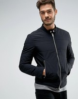 BOSS ORANGE by Hugo Boss Slim Fit Nylon Biker Jacket in Black