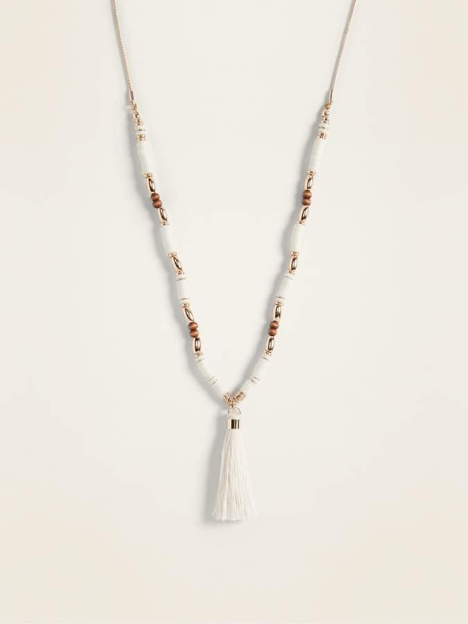 Old Navy Tassel Pendant Necklace for Women