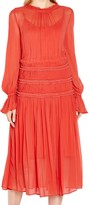 Ghost Sadie Midi Dress, Orange
