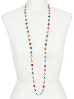 Anne Klein Faceted Faux-Crystal Long Necklace