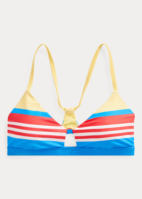 Ralph Lauren Striped Racerback Bikini Top