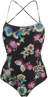RED Valentino Floral Print Swimsuit
