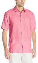 Cubavera Men's Cross Dyed Short Sleeve Woven Shirt